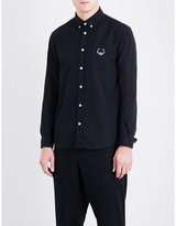 Kenzo Tiger-motif casual-fit cotton-twill shirt