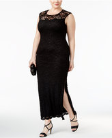 Connected Plus Size Lace Gown