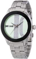 Just Cavalli Women's R7253592502 Silk Silver Stainless steel Band Watch.