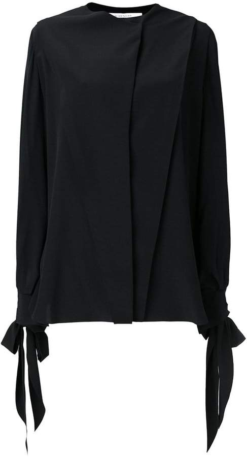 Givenchy flared long-sleeve blouse