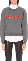 Claudie Pierlot Tribute metallic-print jersey sweatshirt
