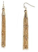 Aqua Esme Fringe Tassle Drop Earrings