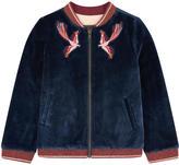 Catimini Embroidered velvet teddy jacket