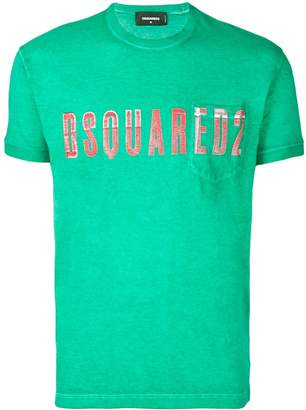 DSQUARED2 embroidered logo T-shirt