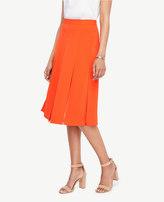 Ann Taylor Petite Cutout Pleated Full Skirt