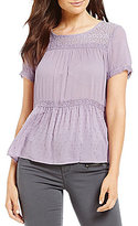 Jolt Tiered Lace Short Sleeve Top