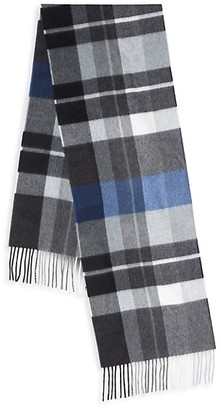Saks Fifth Avenue Boxed Exploded Plaid Cashmere Scarf