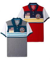 American Rag Shirt, Placed Stripe Polo Shirt