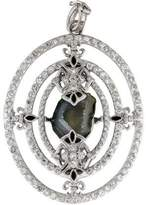 Armenta New World Geode, Diamond & Sapphire Pendant