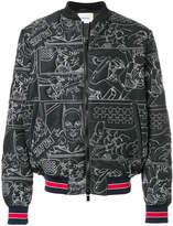 Iceberg stitched bomber jacket