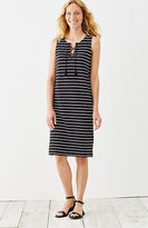 J. Jill Striped Knit Lace-Up Dress