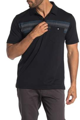 Travis Mathew Fojo Stripe Panel Short Sleeve Polo