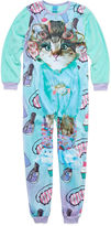 Asstd National Brand Girls Long Sleeve One Piece Pajama-Big Kid