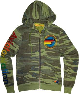 Aviator Nation Camo Cotton-Blend Hooded Jacket
