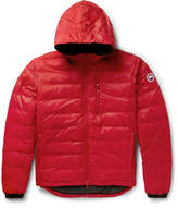 Canada Goose Lodge Packable Shell Hooded Down Jacket - Red