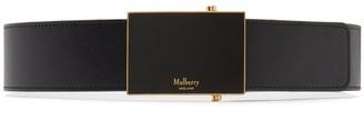 Mulberry Plaque Belt Ebony Silky Calf