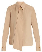 Lemaire Neck-scarf cotton-poplin shirt