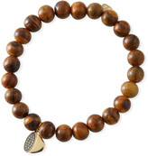 Sydney Evan 14k Diamond Coffee Cup & Wood Bracelet