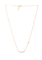 Natalie B Jewelry Ottoman Moon and Star Necklace
