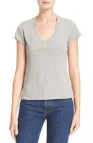 RE/DONE Women's X Hanes '1960S Slim' V-Neck Tee