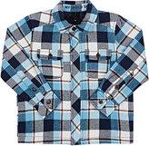 Molo Kids Checked Cotton Shirt Jacket-Blue
