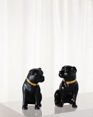 Port 68 Cecil Black Pug Statues, Set of 2