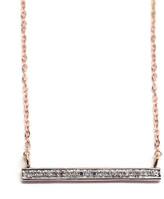 Rachael Ryen - 14k Rose Gold Diamond Bar Necklace
