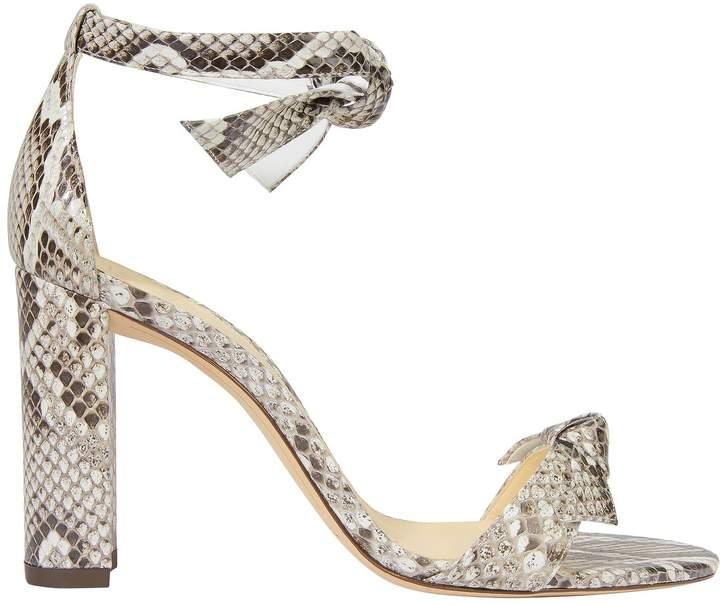 Alexandre Birman Clarita Snakeskin Sandals