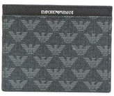 Emporio Armani - logo embossed cardholder - men - Calf Leather - One Size