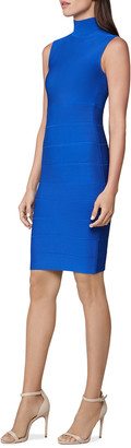 Herve Leger Sleeveless Turtleneck Icon Dress