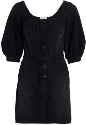 JONATHAN SIMKHAI STANDARD Poppy Puff-Sleeve Mini Dress