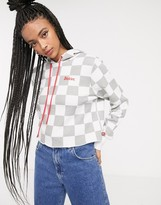 Dickies cropped hoodie with all over print