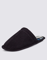 M&s Collection Corduroy Slippers With Thinsulatetm