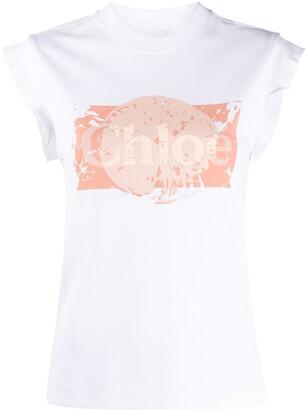 Chloé logo-print slim-fit T-shirt