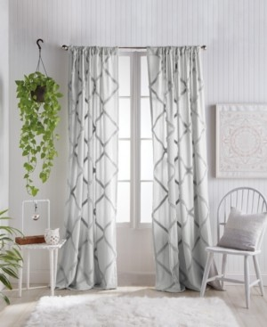 "Peri Home Chenille Lattice 50""x84"" Backtab Window Panel Bedding"