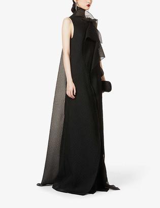Roland Mouret Hartfell draped silk-blend gown