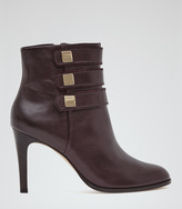 Reiss Lerici ROUND-TOE ANKLE BOOTS