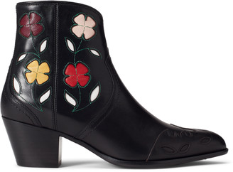 Ralph Lauren Lucille Floral Leather Boot