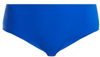 Rochelle Sara The Natalie Mid-rise Bikini Briefs - Blue