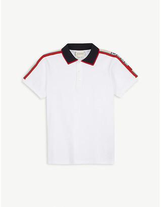 Gucci Striped cotton-pique polo shirt 4-12 years