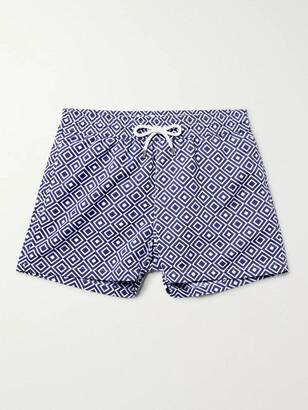 Frescobol Carioca Angra Slim-Fit Short-Length Printed Swim Shorts - Men - Blue