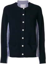 Sacai long sleeved buttoned cardigan