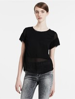 Calvin Klein Jeans Boxy Fit Material Mix Top