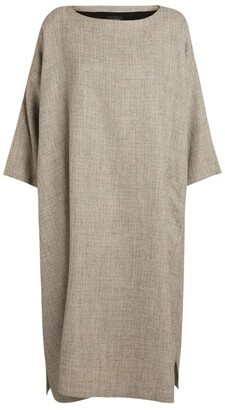 eskandar Wide Boat-Neck Dress