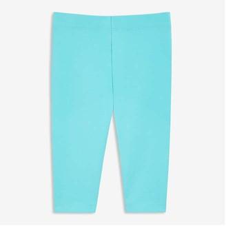 Joe Fresh Baby Girls' Crop Legging, Turquoise (Size 6-12)