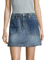 Blank NYC BLANKNYC Stud Cotton Mini Skirt