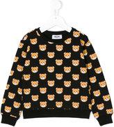 Moschino Kids Teddy print sweatshirt