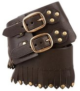 Etro Leather Fringed Belt