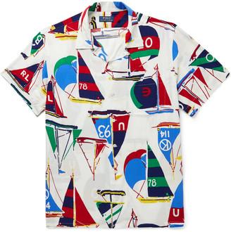 Polo Ralph Lauren Cp-93 Camp-Collar Printed Woven Shirt