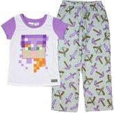 Mojang Minecraft Girls' Alex 2 Piece Pajama Set (Medium, 7/8)